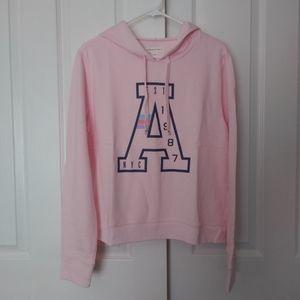 Womens Aeropostale Pullover Pink Logo Hoodie